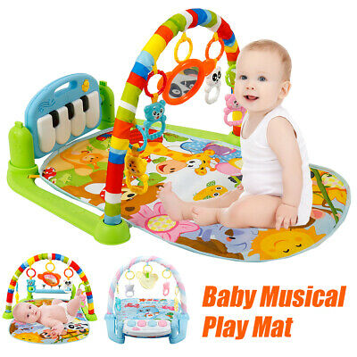 3 in 1 Baby Light Musical Gym Play Mat Lay /& Play Fitness Fun Piano Boy Girl US