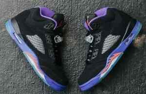 kod promocyjny zasznurować Najlepiej Details about Air Jordan 5 V Retro GG 440892-017 Black/Ember Glow/Purple  Raptor AUTHENTIC