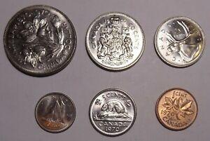 1970-Canada-Uncirculated-coin-set-7-coins