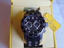 Invicta 50mm Titanium TI-22 Black Carbon Fiber Dial Chronograph Quartz Watch