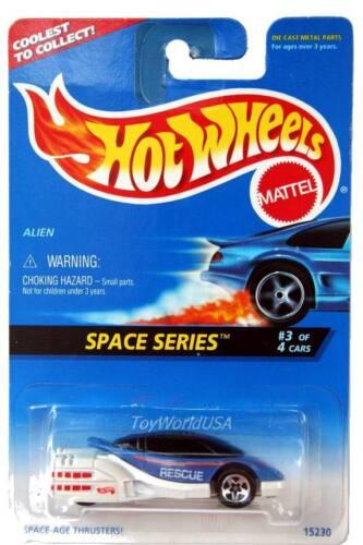 1996 Hot Wheels #390 Space Series #3 Alien ctc card