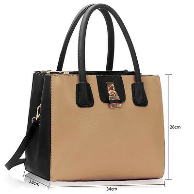 Women's Three Zip Compartments Tote Ladies New Designer Shoulder Bags Handbags