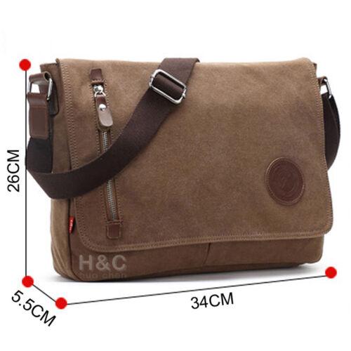 Vintage Men/'s Satchel Shoulder Messenger Bag New Canvas Schoolbag Laptop Bags