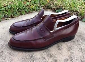Churchs Oxblood Slip On Men S Penny Loafers Custom Grade Made In