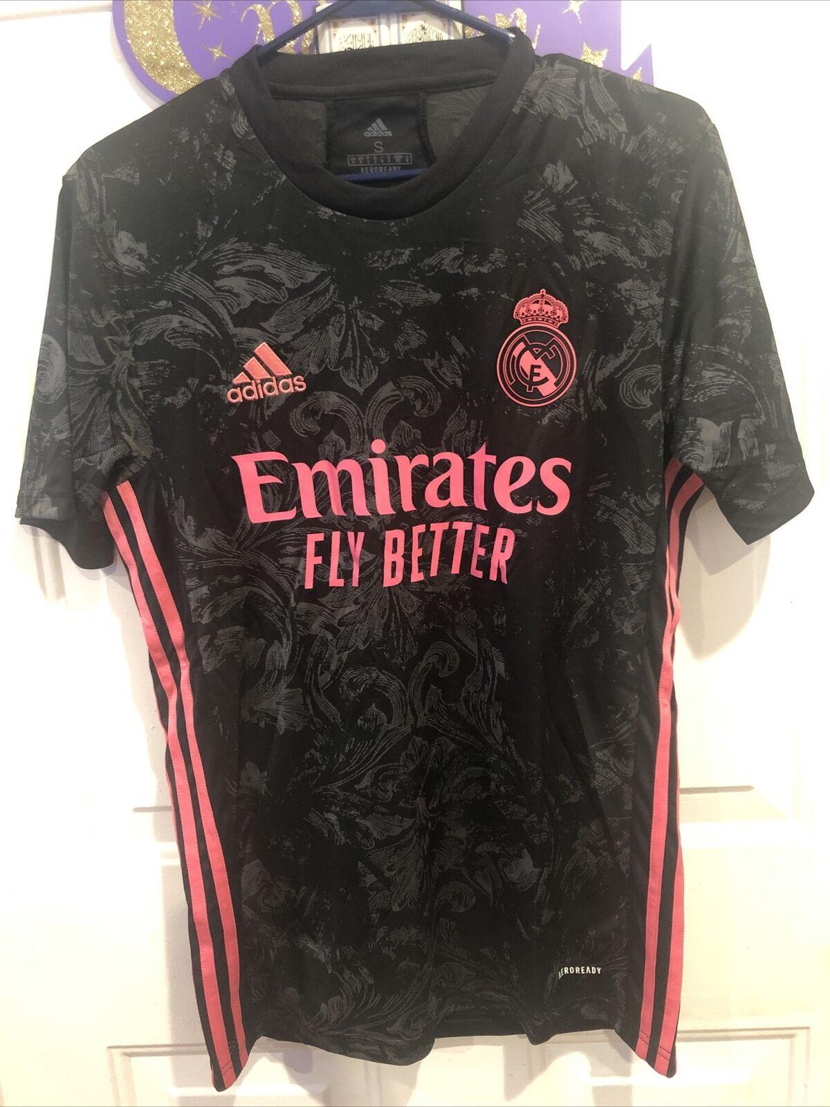 adidas Real Madrid 3rd Kit 20-21 Soccer Jersey Black Pink Size 2xl ...