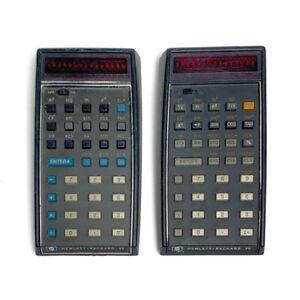 Lot-of-Vintage-Hewlett-Packard-35-Hewlett-Packard-45-LED-Scientific-Calculators