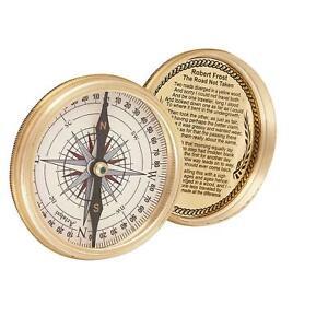 Antique-Nautical-Brass-Calendar-Poem-Compass-3-inch-Vintage-gift