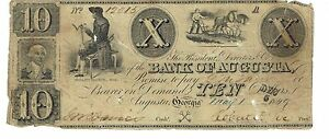 10-1849-Georgia-Augusta-Bank-issued-signed-Cut-Cancel-Obsolete-Currency-12015