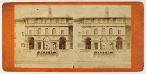 Florence-Uffici-Italia-Foto-Brogi-Stereo-PL55L4n-Vintage-Albumina