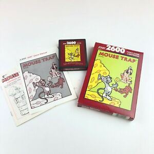 Mouse Trap Red Label for ATARI 2600 Complete in Box With Manual FREE SHIPPING