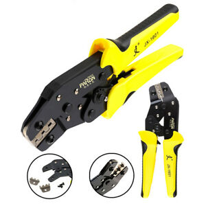 0-14-1-5-mm-Ratchet-Terminal-Crimping-Pliers-Wire-Cable-Cutter-Crimper-26-16AWG