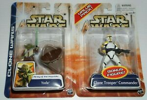 Star-Wars-Clone-Wars-Value-Pack-Yoda-and-Clone-Trooper-Commander-Free-Postage