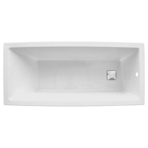 HOESCH Rechteck-Badewanne 170 x 75 x 48 cm Acryl quadratischer Ablauf verchromt