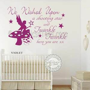 Baby Boys Girls Nursery Wall Sticker Twinkle Twinkle Quote Bedroom