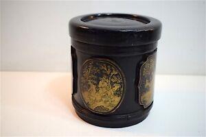 Pot-ancien-en-bambou-laque-noir-XIX-eme-Chine-Chinese-chinois-19th