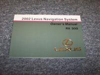 2002 Lexus Rx300 Navigation System Owner Owner's Operator Guide Manual 3.0l V6