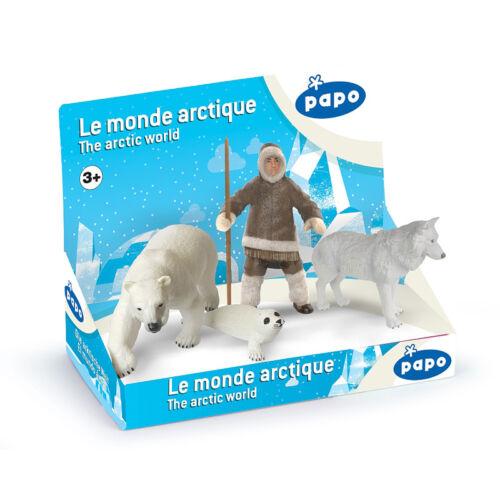 Papo el Ártico mundo pantalla Set Nuevo