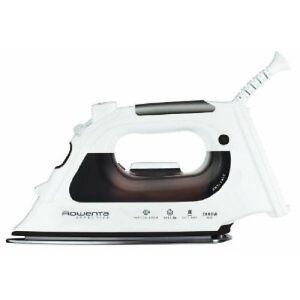 ROWENTA-DX-1400-Fer-a-Repasser-Fer-a-vapeur-noir-blanc-en-acier-inoxydable-sole
