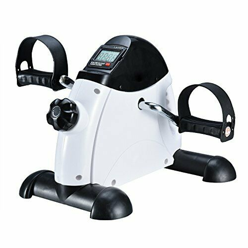 Mini Desk Pedal Exercise Bike by Exefit w  LCD Monitor & Flywheel Compact Design