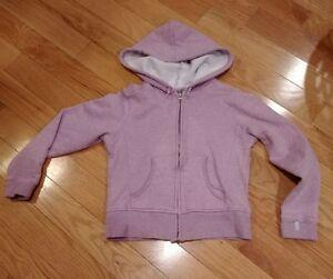 Womens-size-small-champion-hooded-sweatshirt-purple-full-zip-up