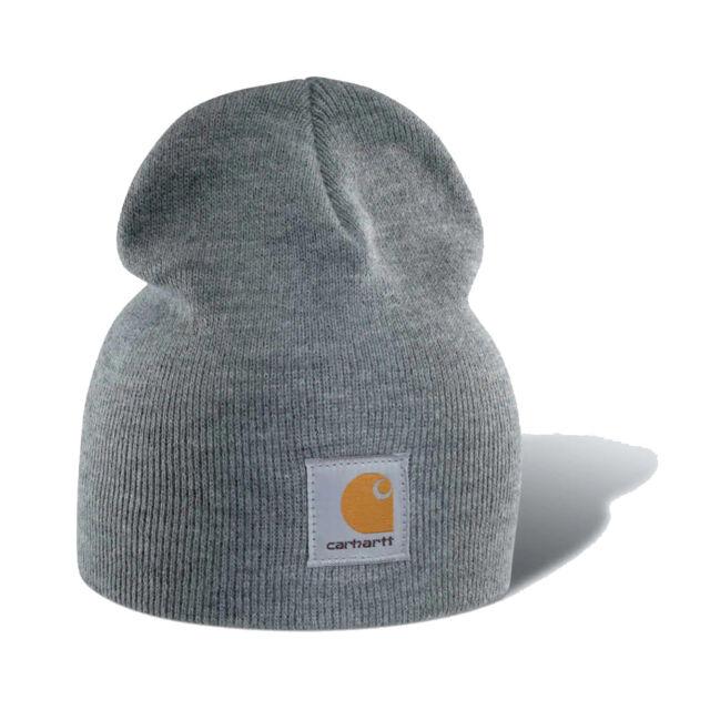 Buy Carhartt Men s Acrylic Knit Hat Heather Grey One Size B002bu7feg ... 04a3b2648c7