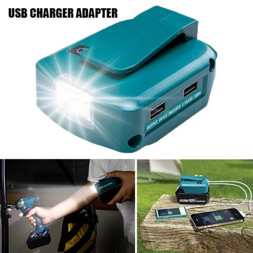 adaptateur de source d/'alimentation 2 ports USB LED pour batterie Li-ion Makita