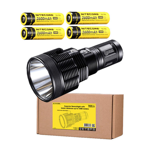 Nitecore TM38 Lite XHP35 HI D4 LED Flashlight -1800Lumens w/4x NL186 Batteries