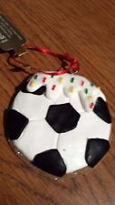 "CHRISTMAS Gingerbread Cookie ""SOCCER BALL""  ORNAMENT NEW Xmas Tree"