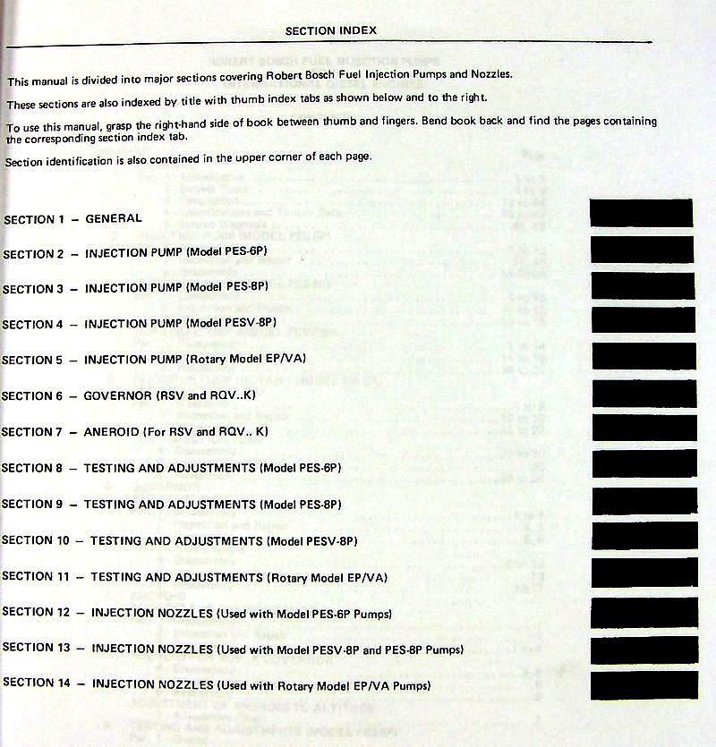 ROBERT BOSCH PES-6P DIESEL FUEL INJECTION PUMP REBUILD SERVICE REPAIR  MANUAL IH