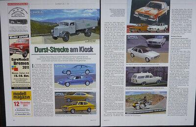 Razionale Opel Calibra Collection, Rally Kadett, Record D.... Un Modello Relazione #2011- I Consumatori Prima