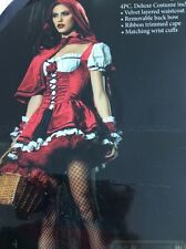 Deluxe Miss Riding Hood Costume - Size M - Includes Accessories