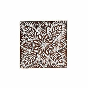 Leaves-Square-Wooden-Printing-Block-Textile-Printing-Block-Henna-and-Tattoo-Bloc