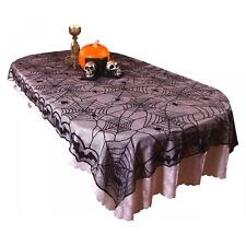 Halloween Tablecloth Spider Web Lace 96 x 48 inch Decoration