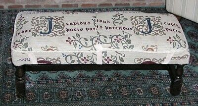 Antiques Antique Furniture Antique Long Oak Stool Low Bench William Morris Style Art And Crafts Covering