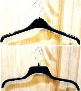 """in. Lot of 50-17/"""" Black Durable Plastic Shirt//Dress Hangers w//Swivel Hook"""