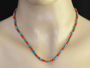 Asian-design-Sterling-Silver-Necklace-Choker-Jewelry-Tibetan-Turquoise-NC13
