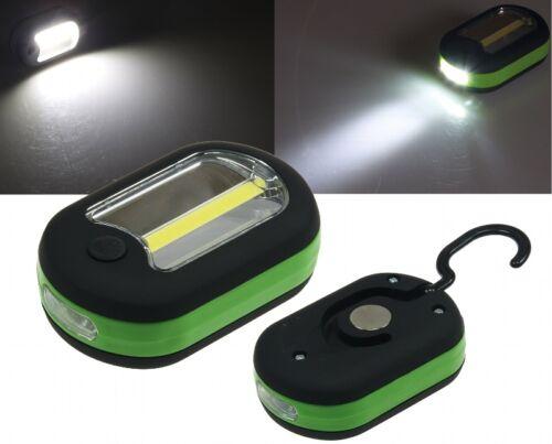 Taschenlampe 21657 LED Arbeitsleuchte mit Haken /& Magnethalter 2W COB LED