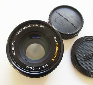 MINOLTA-50MM-F-2-ROKKOR-X-MD-Mount-Manual-Focus-Lens-for-XG1-X700-X570-etc