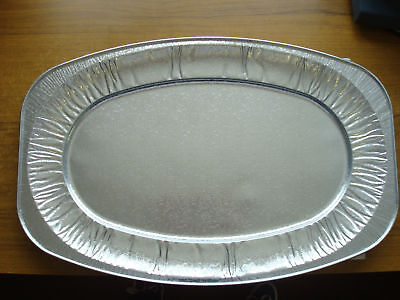 50 X 22 Quot Silver Foil Platters Sandwich Trays Catering Bbq