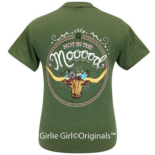 Girlie Girl Originals Tees Mooood Military Green Short Sleeve T-Shirt - 2273