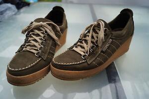 Détails sur Mephisto Femmes Extérieur Chaussures Semelle Compensée à Gr.8 542 5 Cuir Vert
