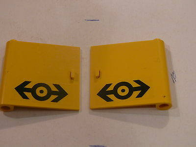 4 yellow doors w// mumber 1 stickers Lego 4 portes jaunes set 6550