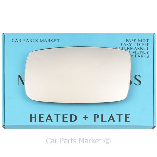 Left Passenger side Flat Wing mirror glass for Volvo 940 1991-1998 heated plate
