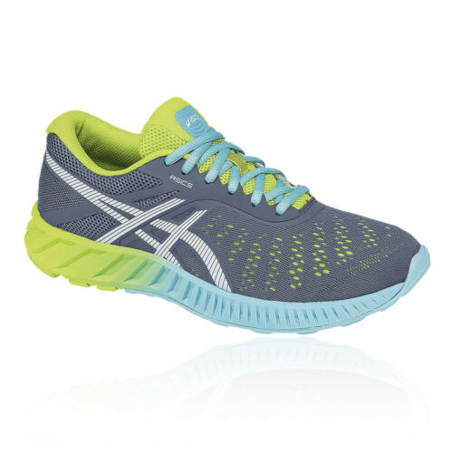 Asics Womens FuzeX Lyte Running Shoes Trainers Sneakers Blue Green Navy Sports