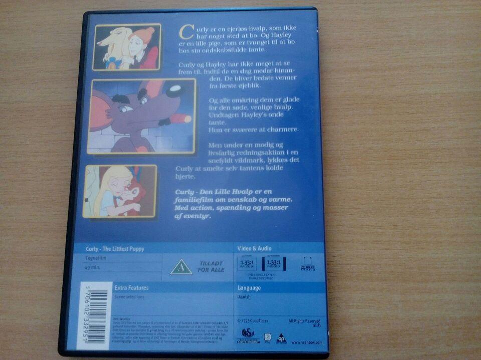 Curly den lille hundevalp, DVD, tegnefilm