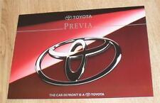 Toyota Previa MPV Brochure 1994 - GL GX