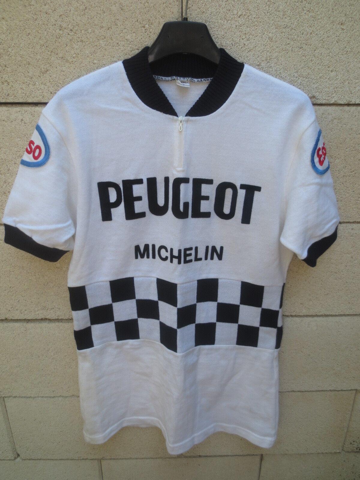 Maillot cycliste PEUGEOT MICHELIN ESSO Tour France 1981 shirt trikot vintage 4