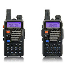 2 * Baofeng Black UV-5R+ Plus VHF UHF 136-174/400-520MHz Dual Band Two-way Radio