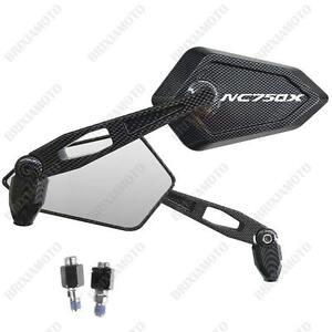 Espejos-Retrovisor-Street-Carbon-Look-Logo-Blanco-Honda-NC750X-Nc-750-X-ABS-DCT