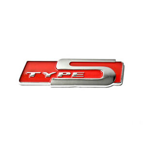 For Honda Acura Type S Emblem Red Badge Sticker Letter Decal D RSX - Acura type s emblem